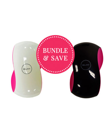 BELLAMI Detangler Bundle - Small (White/Pink & Black/Pink)