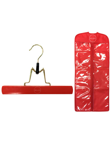 Bellami Hair Red Extensions Carrier & Hanger