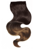 "BELLAMI It's A Wrap Ponytail 16"" 80g Balayage Off Black / Chocolate Brown (#1B/4) Human Hair"