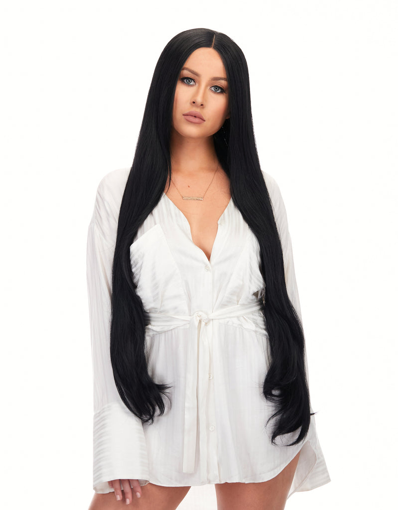 "Tokyo Stylez - Dark Shadow 360g 34"" Straight Synthetic Hair Wig"
