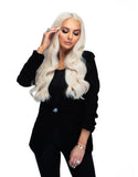 "Platinum Perfection by Zach Mesquit 18"" 140g Boujee Hair Extensions"