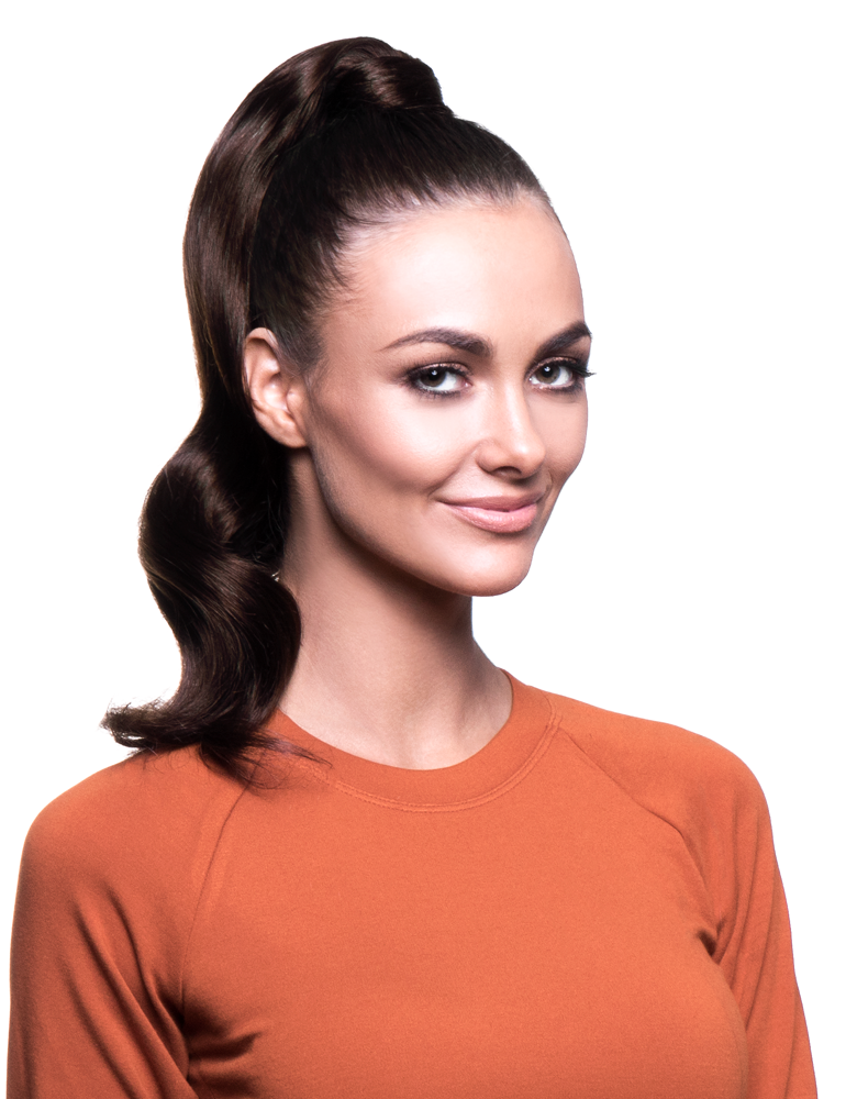 "BELLAMI It's A Wrap Ponytail 16"" 80g Dark Brown (#2) Human Hair"