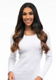"BELLAMI Silk Seam 140g 18"" Dark Brown/Ash Brown Ombre (2/8) Hair Extensions"