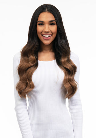 "BELLAMI Silk Seam 180g 20"" Dark Brown/Ash Brown Ombre (2/8) Hair Extensions"