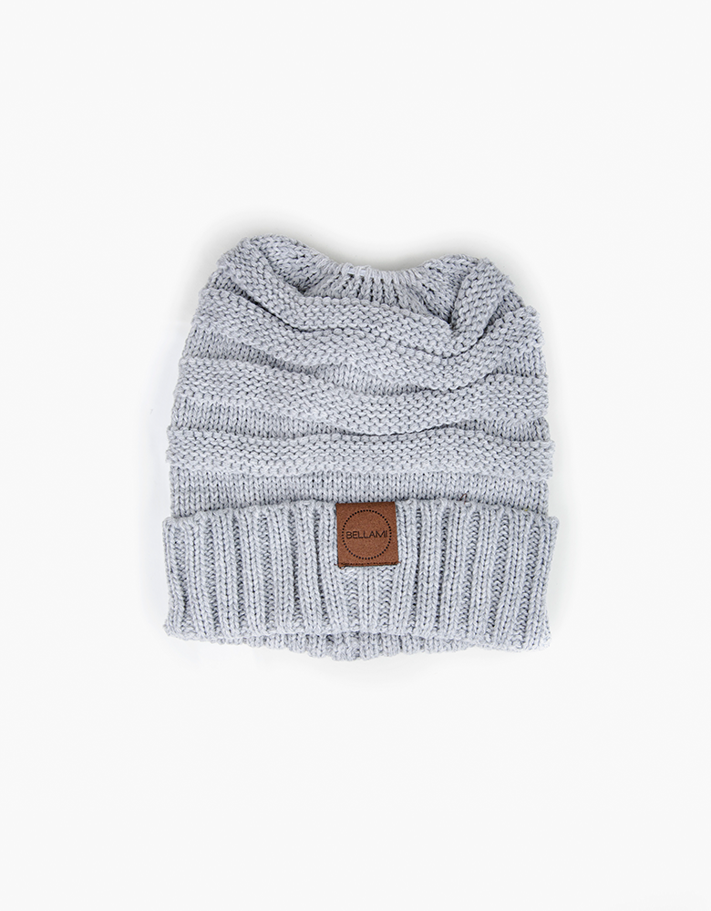 BELLAMI Ponytail Beanie - Grey
