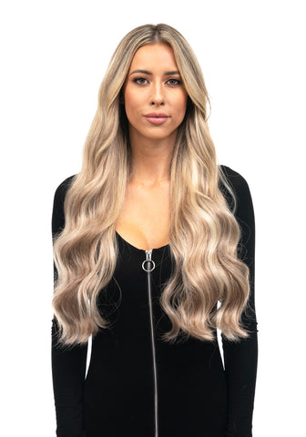 "BELLAMI Silk Seam 180g 20"" Ash Bronde Highlight (21/60/16) Hair Extensions"