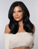 "BELLAMI BELL AIR 16"" 170g #1 JET BLACK Hair Extensions"