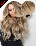 "Balayage 220g 22"" Hair Extensions #17 Cool Brown / #18 Dirty Blonde"