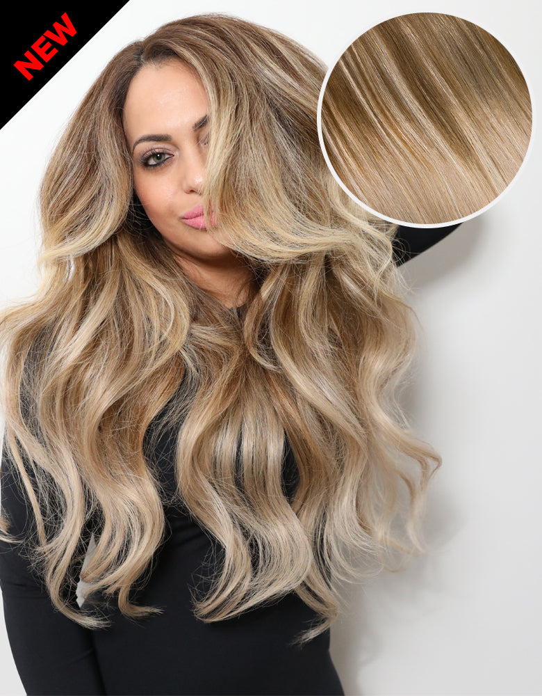 "Balayage 160g 20"" Ombre Ash Brown/Ash Blonde Hair ..."