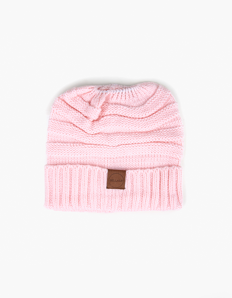 BELLAMI Ponytail Beanie - Light Pink