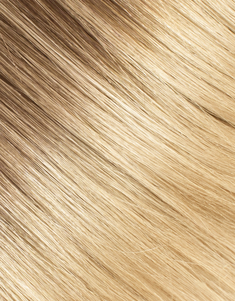 "BELLAMI Silk Seam 50g 16"" Volumizing Weft Rooted Ash Brown/Honey Blonde (8/20/24/60)"