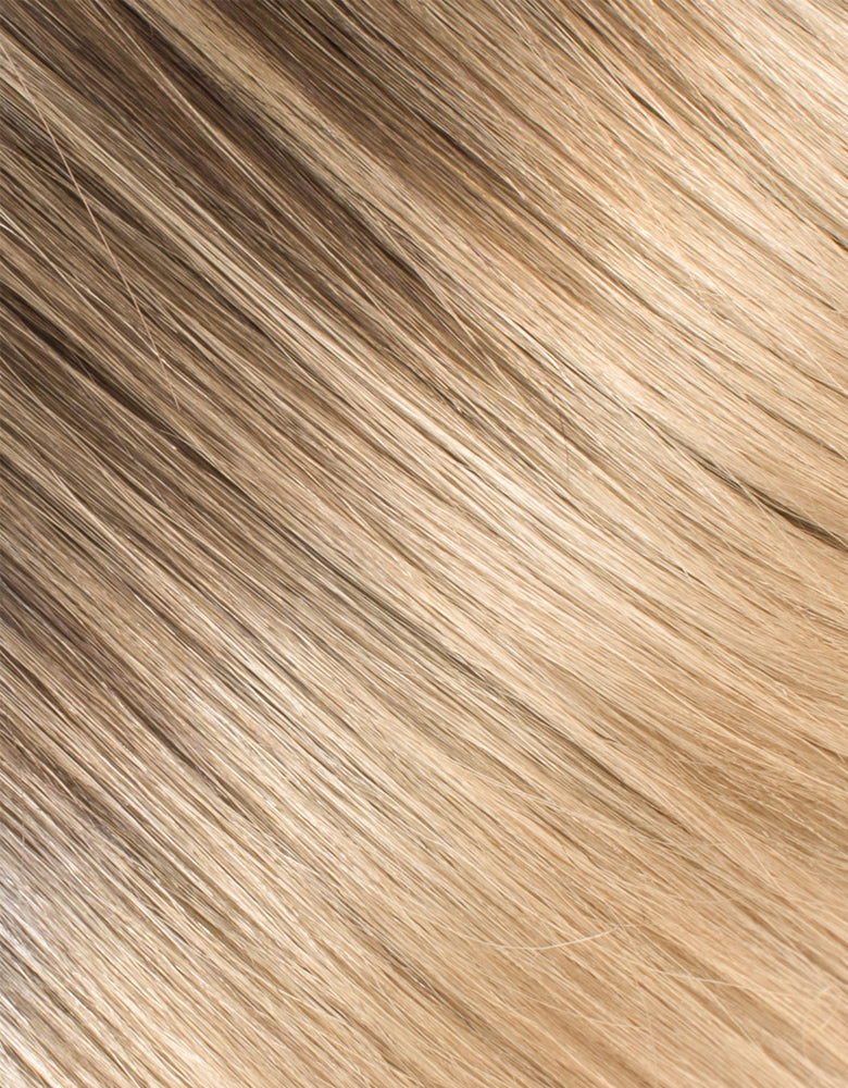 "BELLAMI Silk Seam 50g 16"" Volumizing Weft Rooted Cool Brown (17/P10/16/60)"