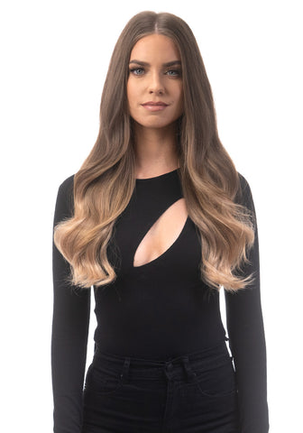 "BELLAMI Silk Seam 140g 18"" Ash Bronde/Strawberry Blonde Ombre (21/27) Hair Extensions"