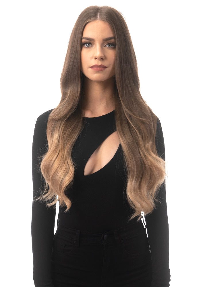 "BELLAMI Silk Seam 240g 22"" Ash Bronde/Strawberry Blonde Ombre (21/27) Hair Extensions"