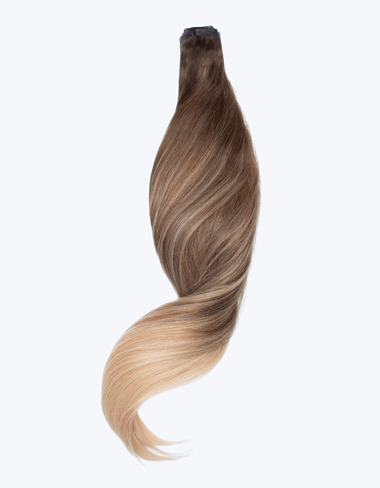 "BELLAMI Silk Seam 50g 20"" Volumizing Weft Warm Brown/Honey Blonde Ombre (O17/24)"