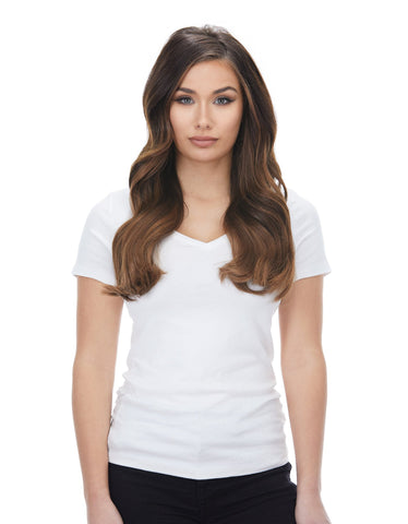 "BELLAMI Silk Seam 180g 20"" Almond Brown (7) Hair Extensions"