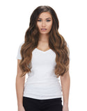 "BELLAMI Silk Seam 260g 24"" Almond Brown (7) Hair Extensions"