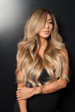 "Balayage 160g 20"" Hair Extensions #4 Chocolate Brown/ #18 Dirty Blonde"