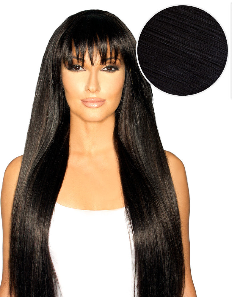 Cleopatra Clip In Bangs Jet Black (1)