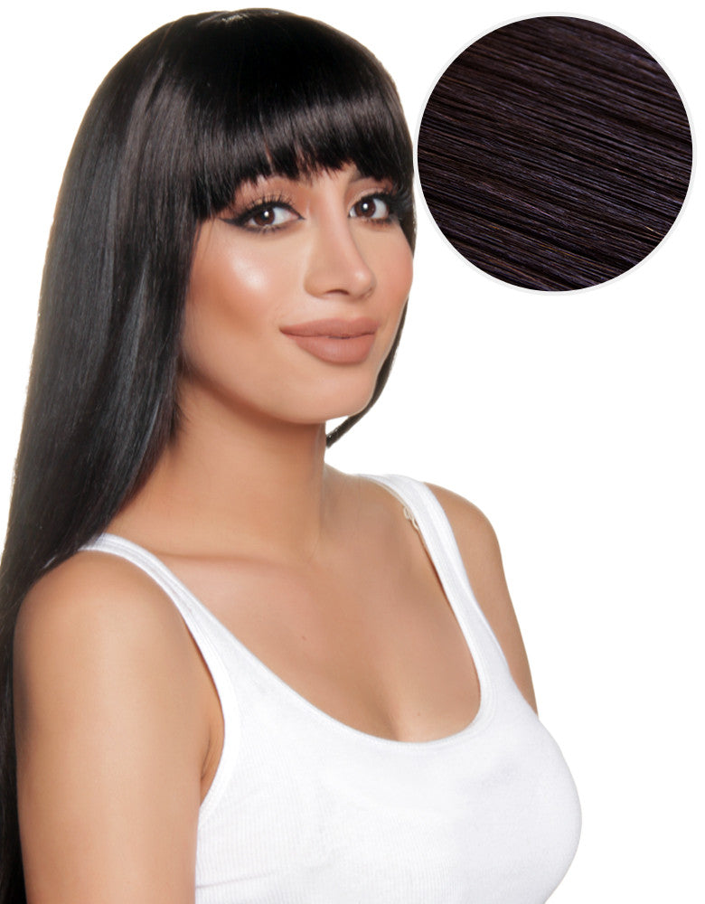 Cleopatra Clip In Bangs Off Black (1B) - BELLAMI – BELLAMI Hair b080bc1da