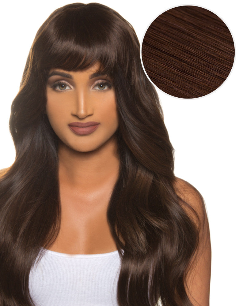 Cleopatra Clip In Bangs Dark Brown (2)