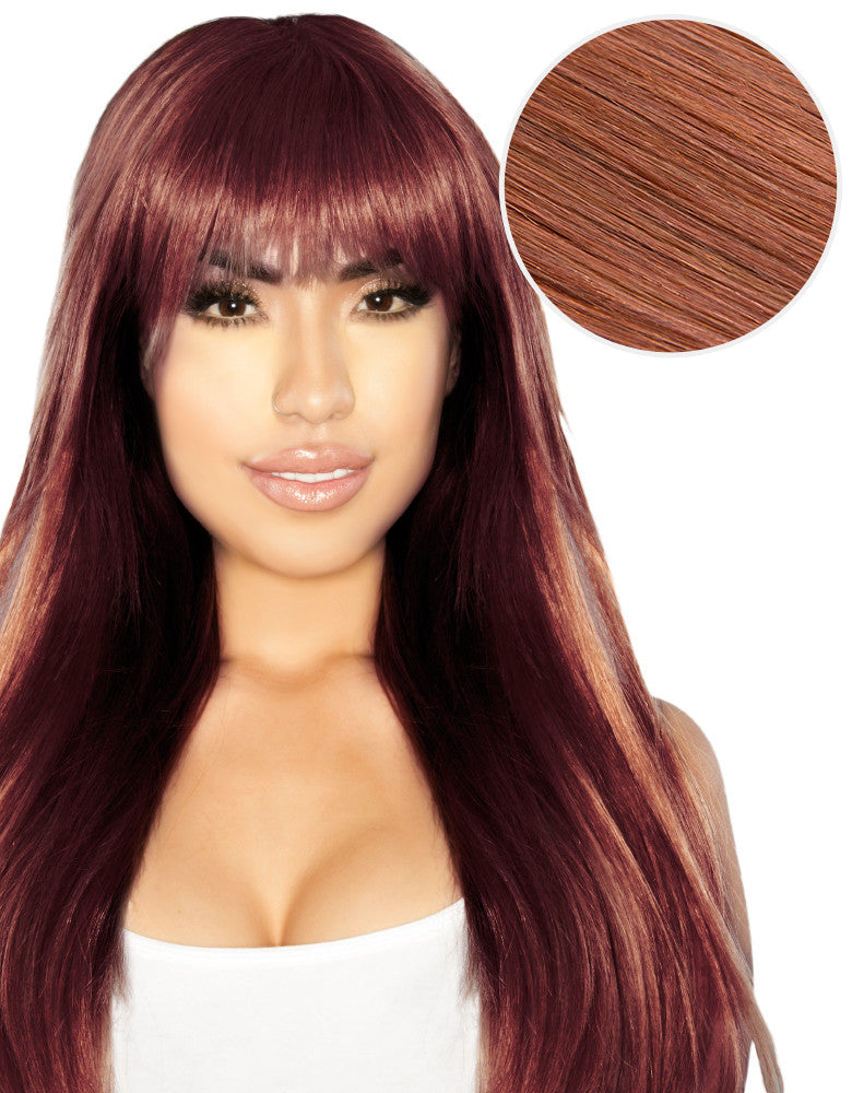 Cleopatra Clip In Bangs Vibrant Red (33)