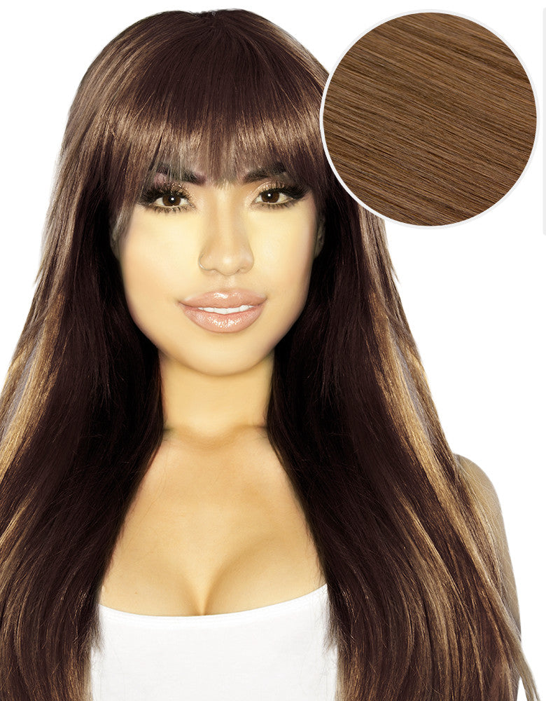 Cleopatra Clip In Bangs Chestnut Brown (6). Your browser does not support  the video tag. 285559296