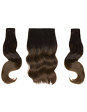 "BELLAMI BELL AIR 12"" 120g #1B/4 BALAYAGE CHOCOLATE BROWN Hair Extensions"