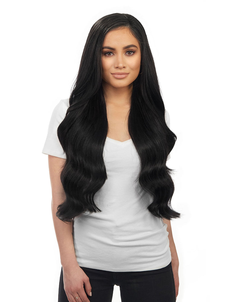 "BELLAMI Silk Seam 260g 24"" Jet Black (#1) Hair Extensions"