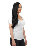 "BELLAMI Silk Seam 140g 16"" Jet Black (1) Hair Extensions"