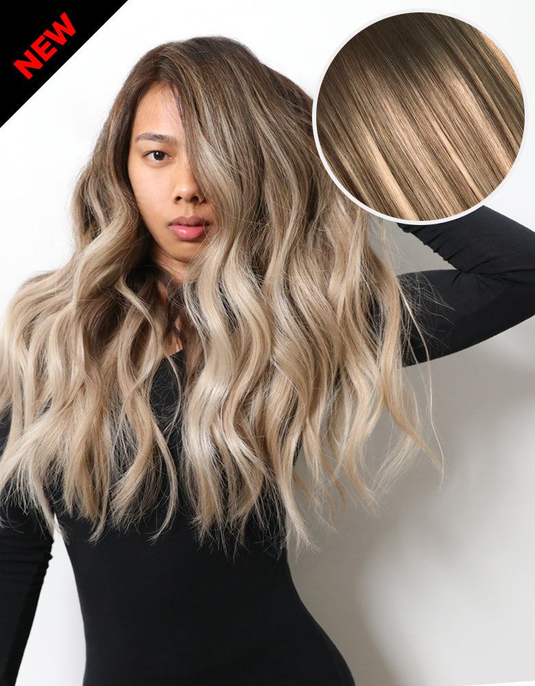 Balayage 160g 20 Ombre Ash Brown Ash Blonde Hair Extensions