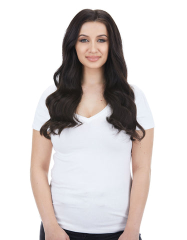 "BELLAMI Silk Seam 140g 18"" Mochachino Brown (1C) Hair Extensions"