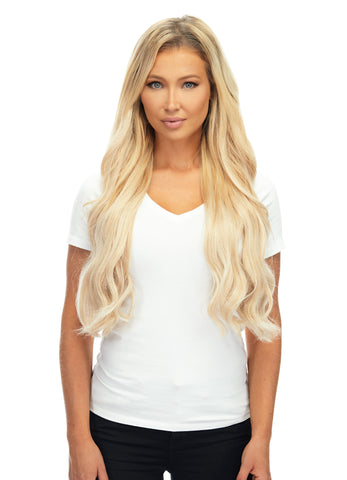"BELLAMI Silk Seam 240g 22"" Rooted Ash Brown/Honey Blonde (8/20/24/60) Hair Extensions"