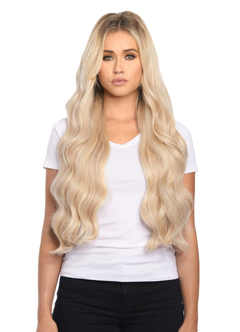"BELLAMI Silk Seam 260g 24"" Rooted Cool Brown (17/P10/16/60) Hair Extensions"
