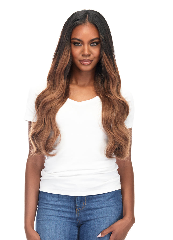 "BELLAMI Silk Seam 180g 20"" Rooted Off Black/Almond Brown (1B/7) Hair Extensions"