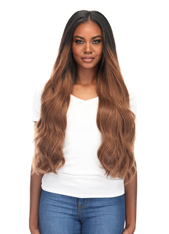 "BELLAMI Silk Seam 260g 24"" Rooted Off Black/Almond Brown (1B/7) Hair Extensions"