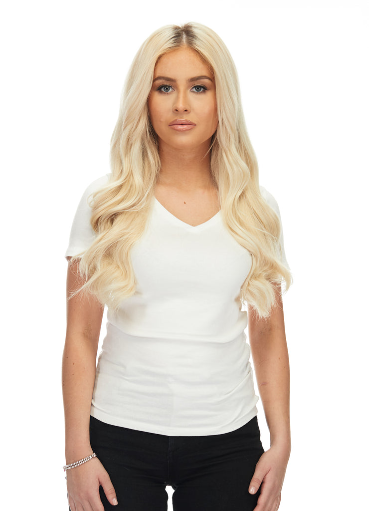 "BELLAMI Silk Seam 140g 16"" Rooted Walnut Brown/Ash Blonde  (3/60) Hair Extensions"
