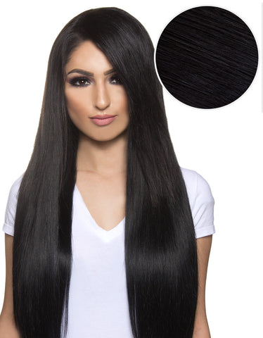 Side Swept Clip In Bangs Jet Black (1)