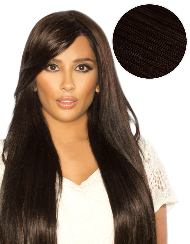 Side Swept Clip In Bangs Mochachino Brown (1C)
