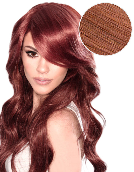 Side Swept Clip In Bangs Vibrant Red (33)