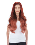 "BELLAMI Silk Seam 260g 24"" Vibrant Red (33) Hair Extensions"