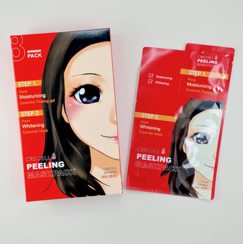 2-Step Peeling and Brightening Sheet Mask - 8 Pack