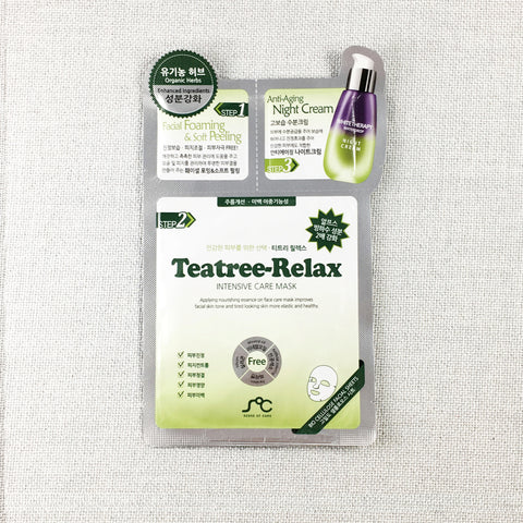 3-Step Sheet Mask -  Teatree Relax