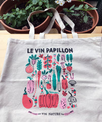 Sac à épiceries réutilisable Vin Papillon Tote bag