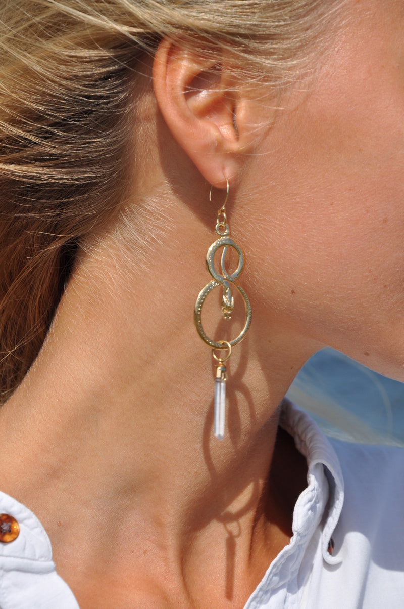 Kundalini Serpant Crystal Earrings