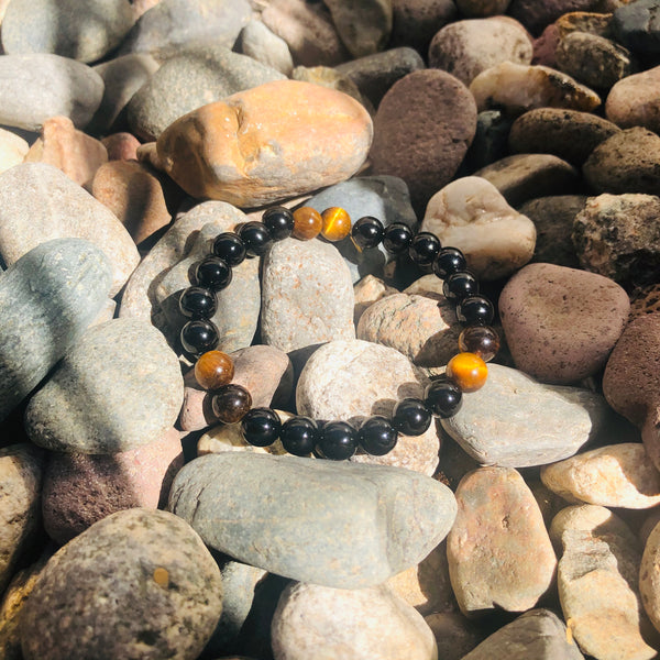 Men's Bracelet—Onyx & Tiger's Eye