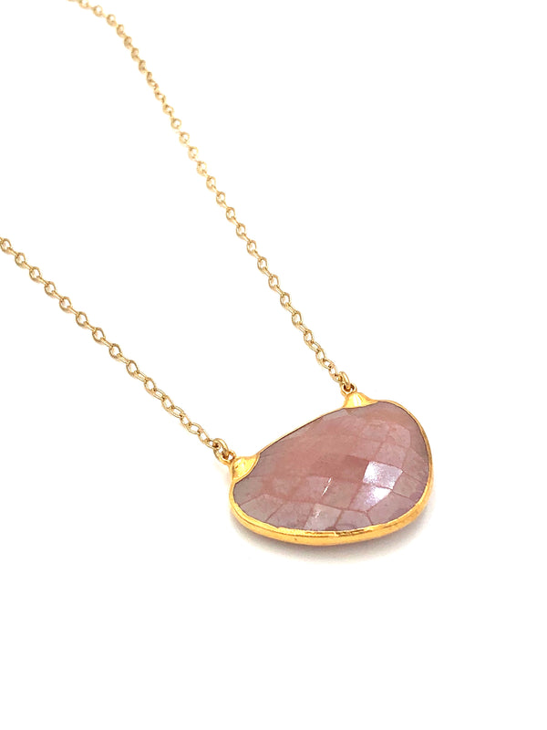 Pink Moonstone Necklace