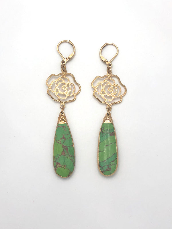 Green Turquoise Earrings II