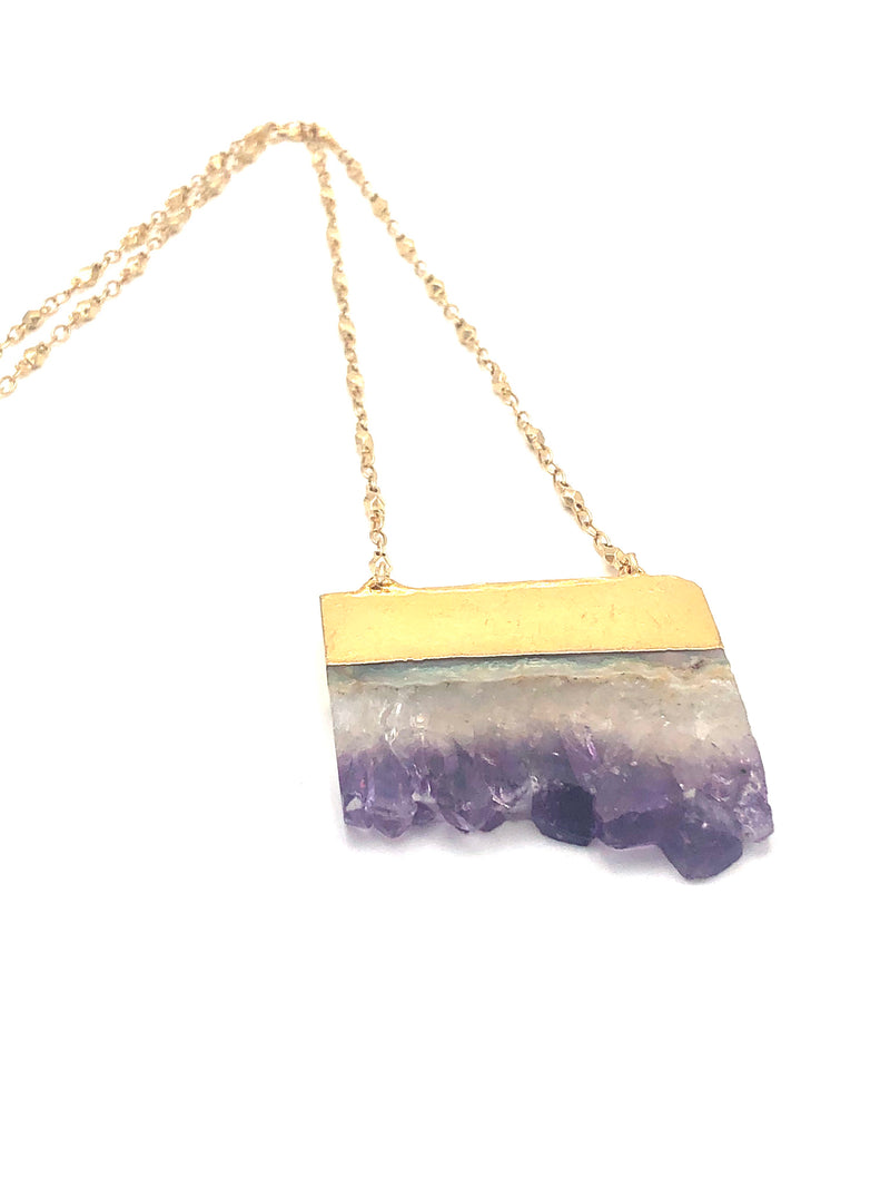 Cascading Amethyst Necklace