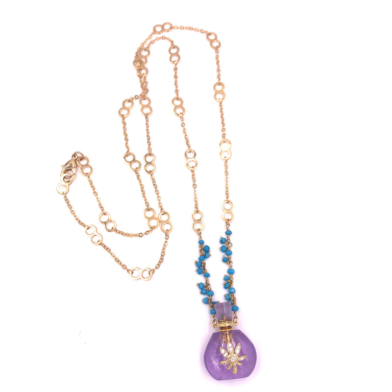 Mary Jane Love Potion Bottle Necklaces